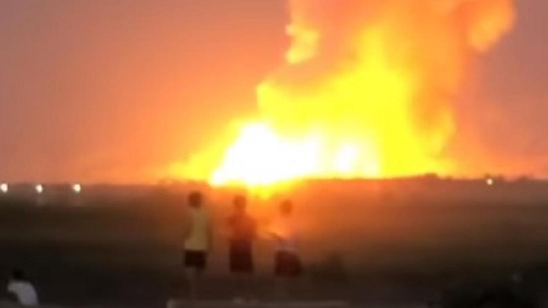 Взрыв в Жамбылской области