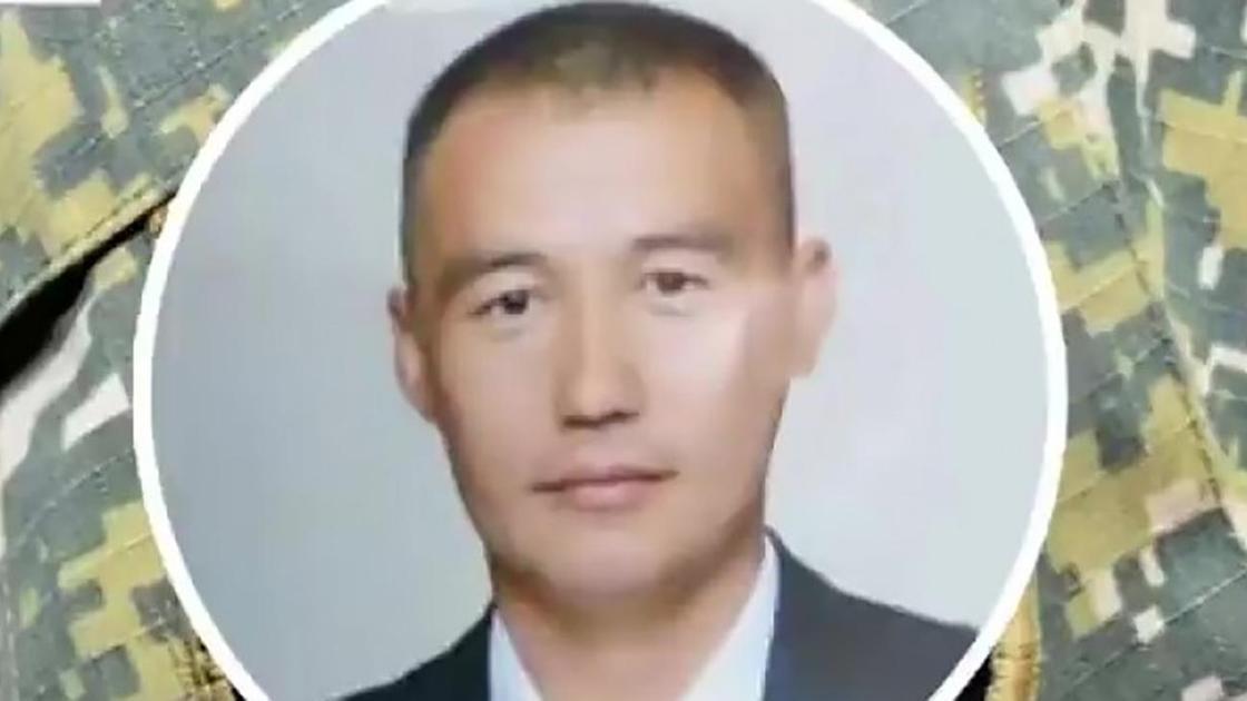 Военнослужащий из Жамбылской области Бауыржан Дауытбаев