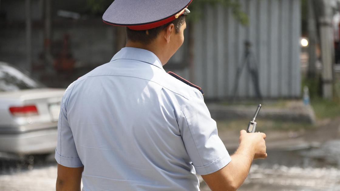 Полицейский стоит