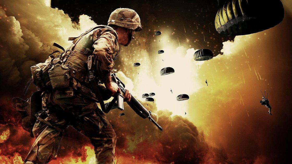 Солдаты на войне