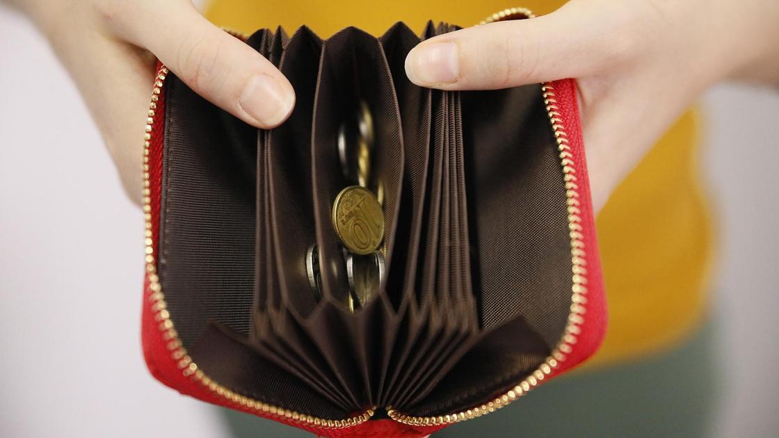 В кошельке мало денег