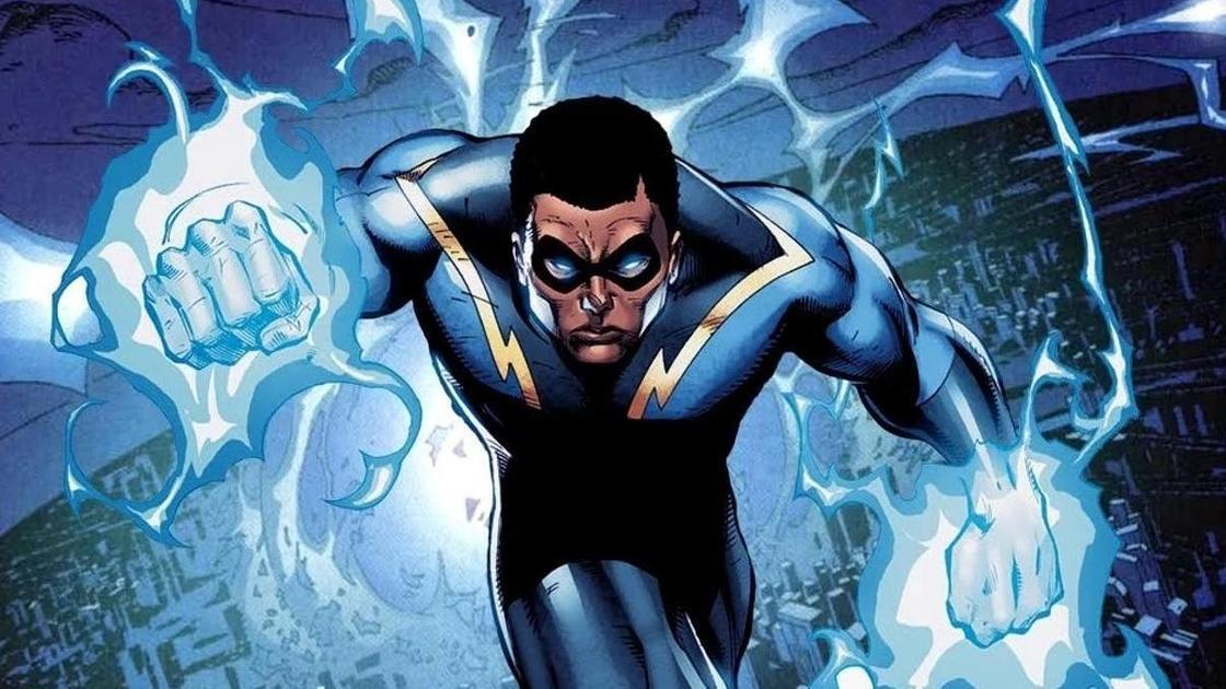 супергерой Черная молния из комикса