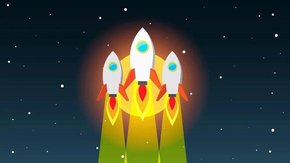 ракеты, летящие в космос (рисунок)