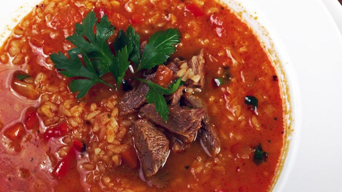 Суп харчо из говядины с рисом и картошкой