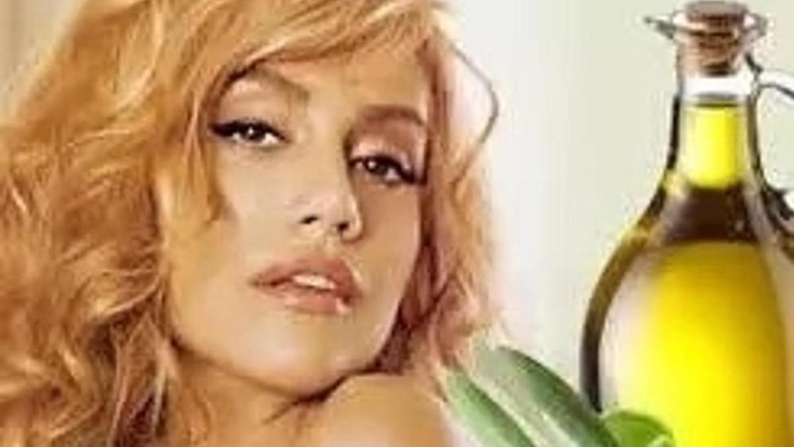 оливковое масло, лицо девушки