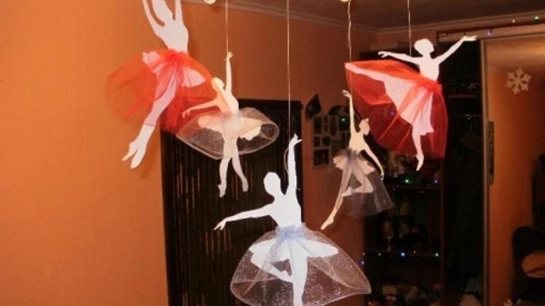 Балерина из бумаги и фатина: как сделать