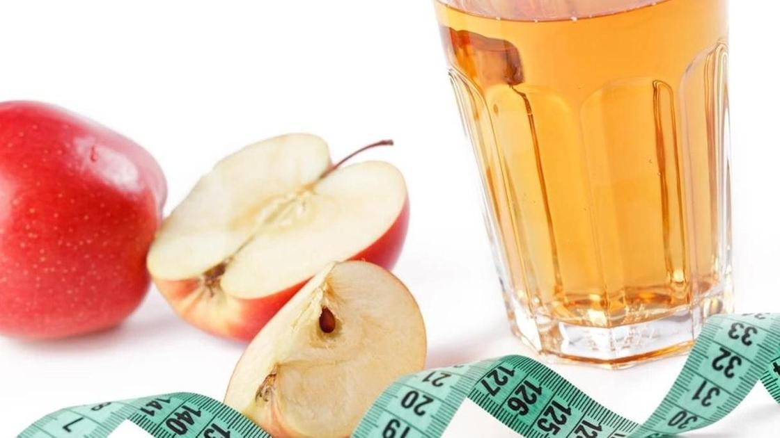 яблоко, яблочный уксус, сантиметр