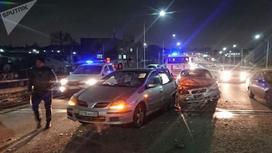 Машины столкнулись в Алматы