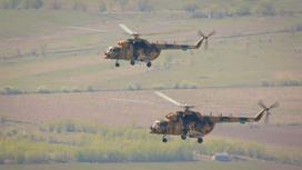 Учение «Айбалта-2019», 2 вертолета