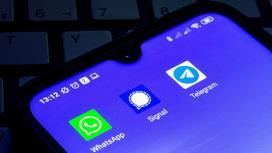 Иконки мессенджеров Telegram, Whatsapp, Signal
