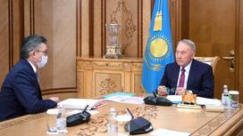 Нурсултан Назарбаев и Бахыт Султанов