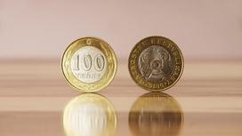 монета в 100 тенге