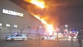 """Пожар на рынке """"Шапагат"""" в Нур-Султане"""