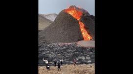 Исландцы играют в волейбол