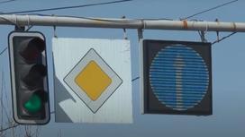 Электронный дорожный знак в Алматы