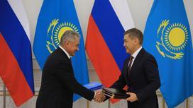 Нурлан Ермекбаев с Сергеем Шойгу