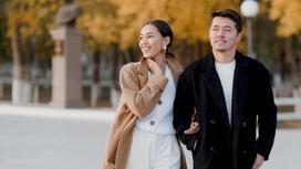 Динара Бактыбаева с супругом