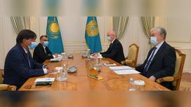 Касым-Жомарт Токаев на встрече с Лакшми Митталом