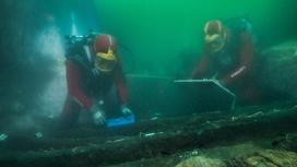 Археологи на месте затонувшего города Тонис-Гераклион