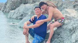 Кайрат Нуртас с отцом