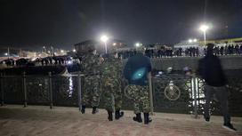 Спасатели у канала Курсай