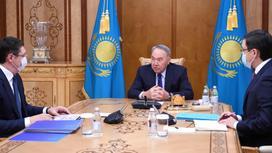 Нурсултан Назарбаев и Алмасадам Саткалиев