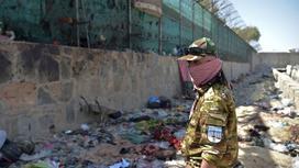 Талиб на месте взрыва в Кабуле
