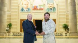 Рамзан Кадыров и Евгений Пригожин