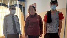 Числившийся пропавшим Алмасхан Усенбаев рядом со своим законным представителем и полицейским