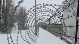 Колючая проволока в тюрьме