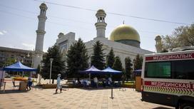 Прививочный пункт в Центральной мечети