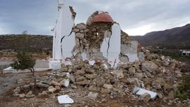 Последствия землетрясения на острове Крит