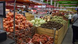 Овощи в супермаркете