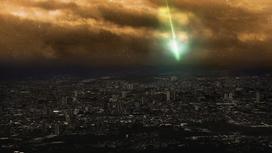 Метеорит падает на землю