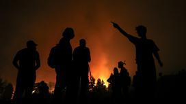 Пожарные в Греции