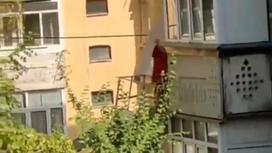 Дома красили в Талгаре