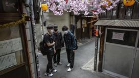 Японцы на улочках Токио