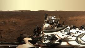 Снимок поверхности Марса с марсохода