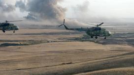 Военные учения. Вертолет. Фото kremlin.ru