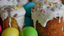 Пасхальные куличи и яйца