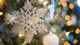 елка, снежинка, шары