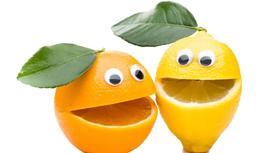 Два лимона с улыбками