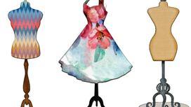 Манекены и платье