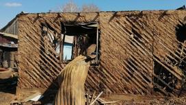 Пожар в пригороде Уральска