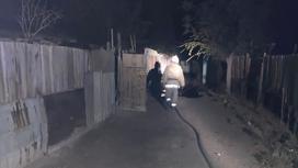 Пожар в Балхаше