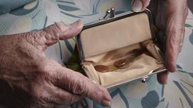 В кошельке пенсионерки лежит мало монет