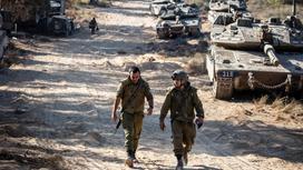 Израильские военные на границе с сектором Газа