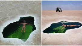Фантастика: как выглядит живописный природный бассейн посреди пустыни