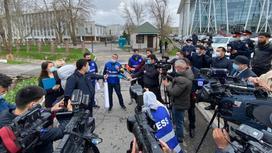 Журналисты в Шымкенте