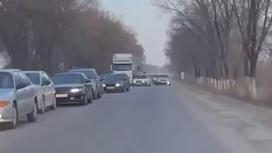 Пробка близ Алматы